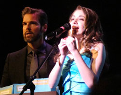 Brigid Harrington with Hugh Panaro