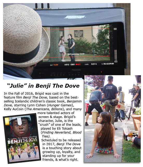 Brigid in feature film BENJI THE DOVE