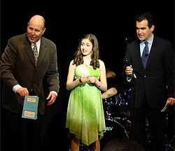 Brigid Harrington with Brian d'Arcy James and Sam Scalamoni